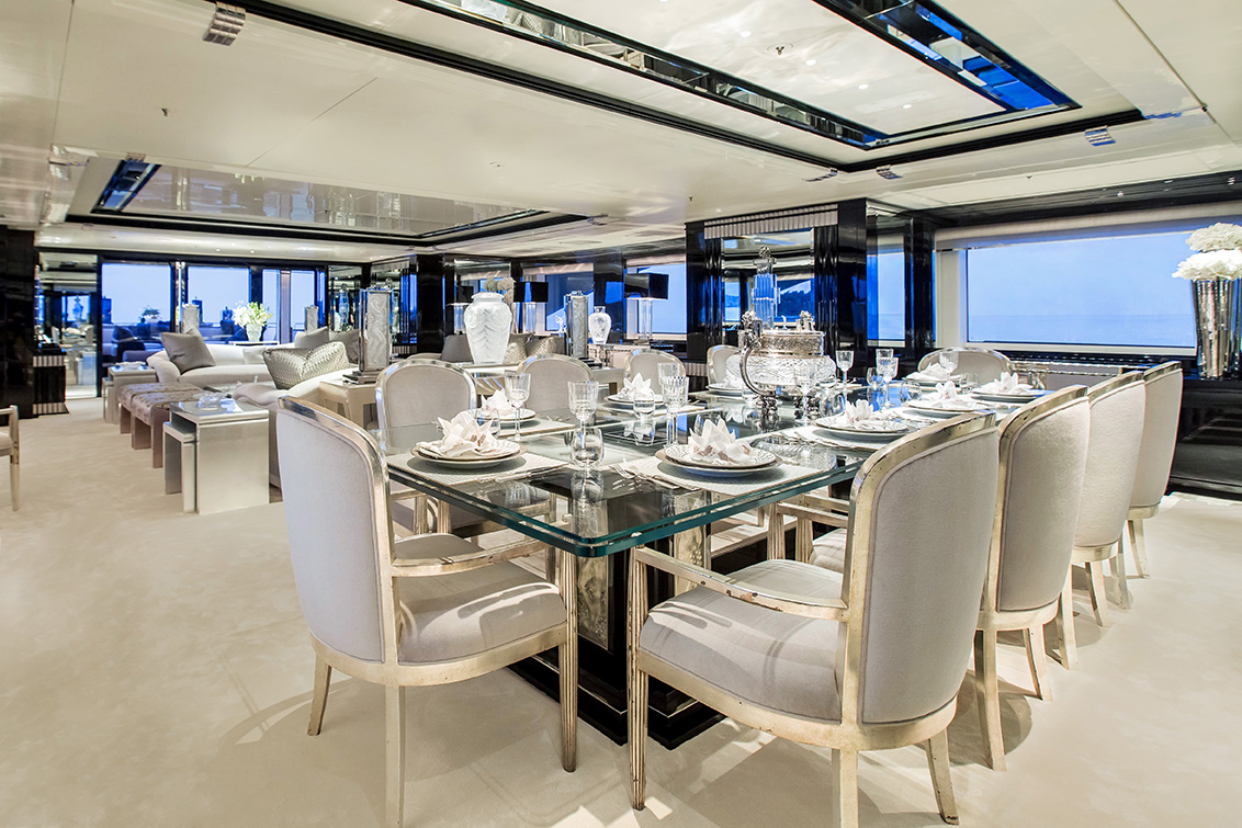 MY SILVER ANGEL - Formal dining on main deck