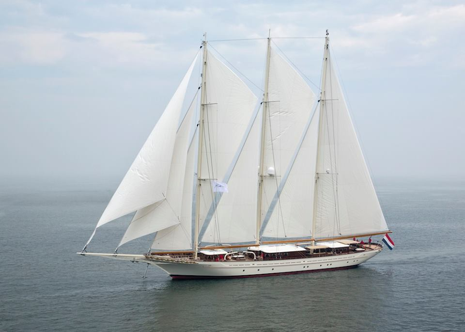 Mega yacht Mikhail S. Vorontsov - side view