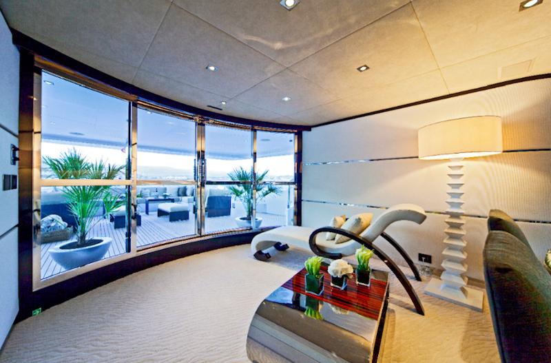 MondoMarine Yacht Manifiq Main Salon Hall - Interior by Luca Dini Design