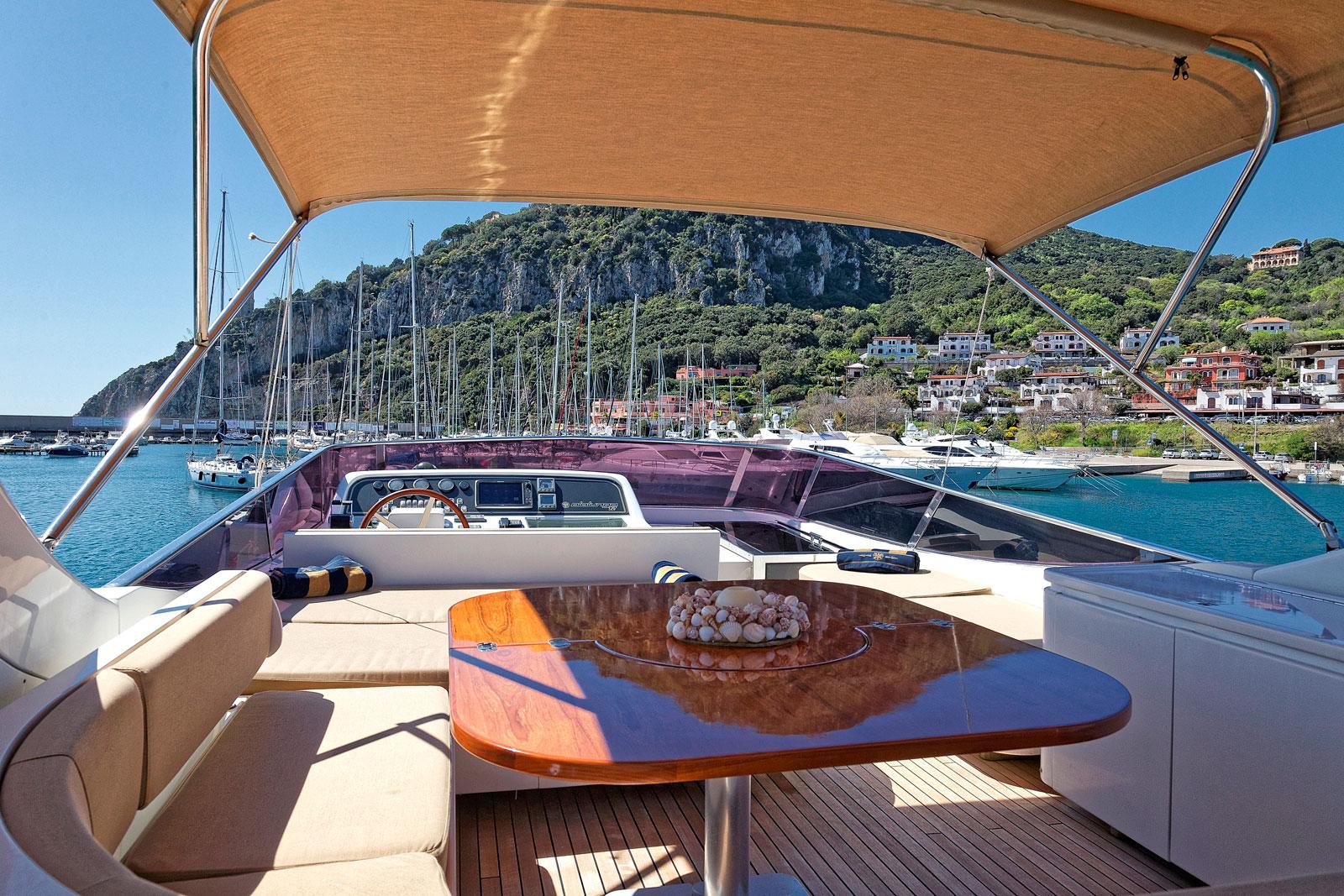 Motor Yacht AQVA - Alfresco dining upper deck