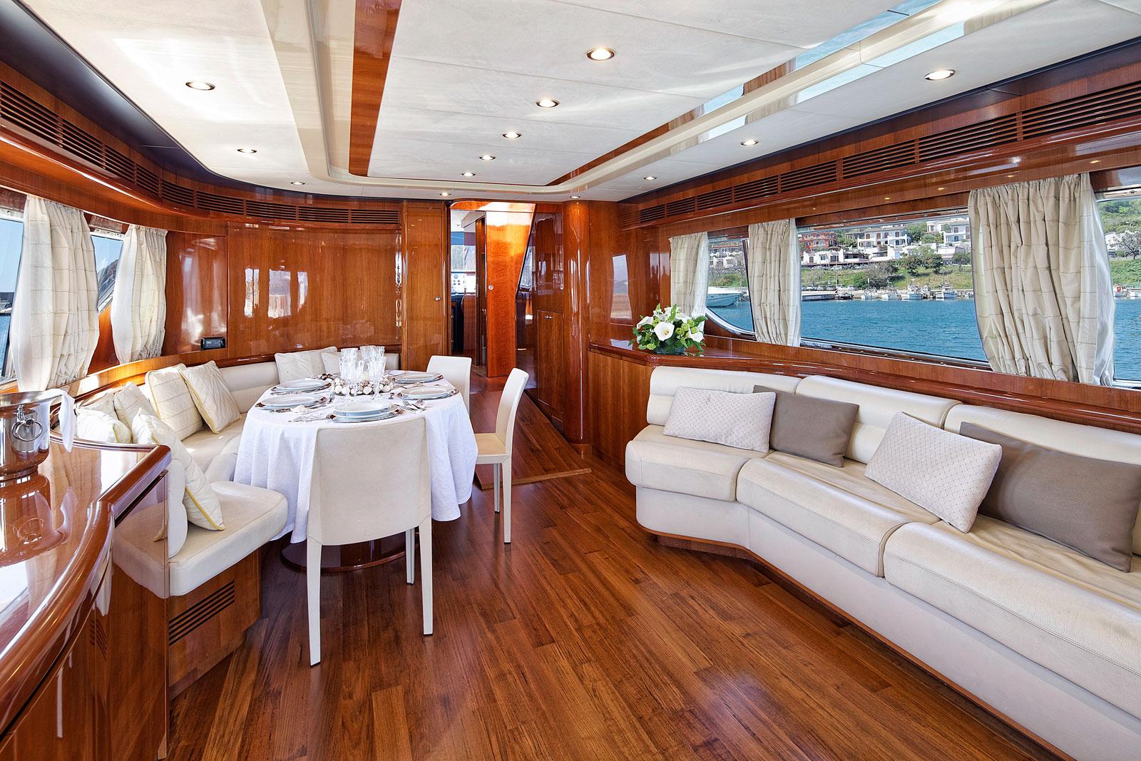 Motor Yacht AQVA - Salon view forward