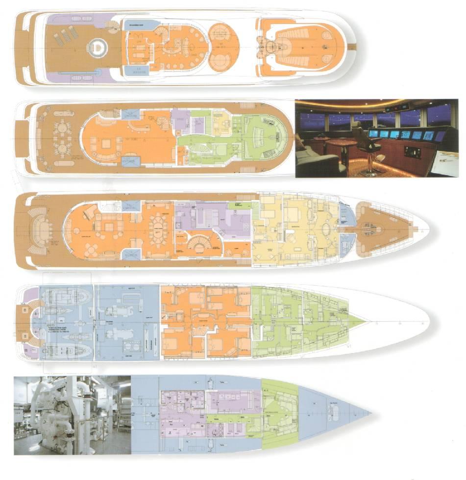 Motor Yacht CAPRI - Genral Arrangement