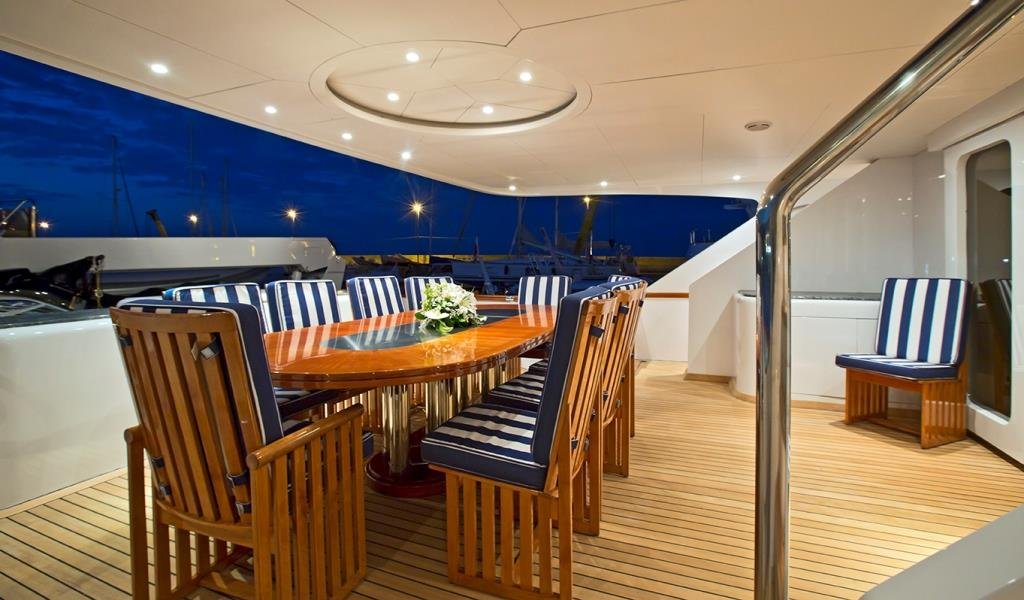 Motor Yacht DESAMIS B - Aft deck