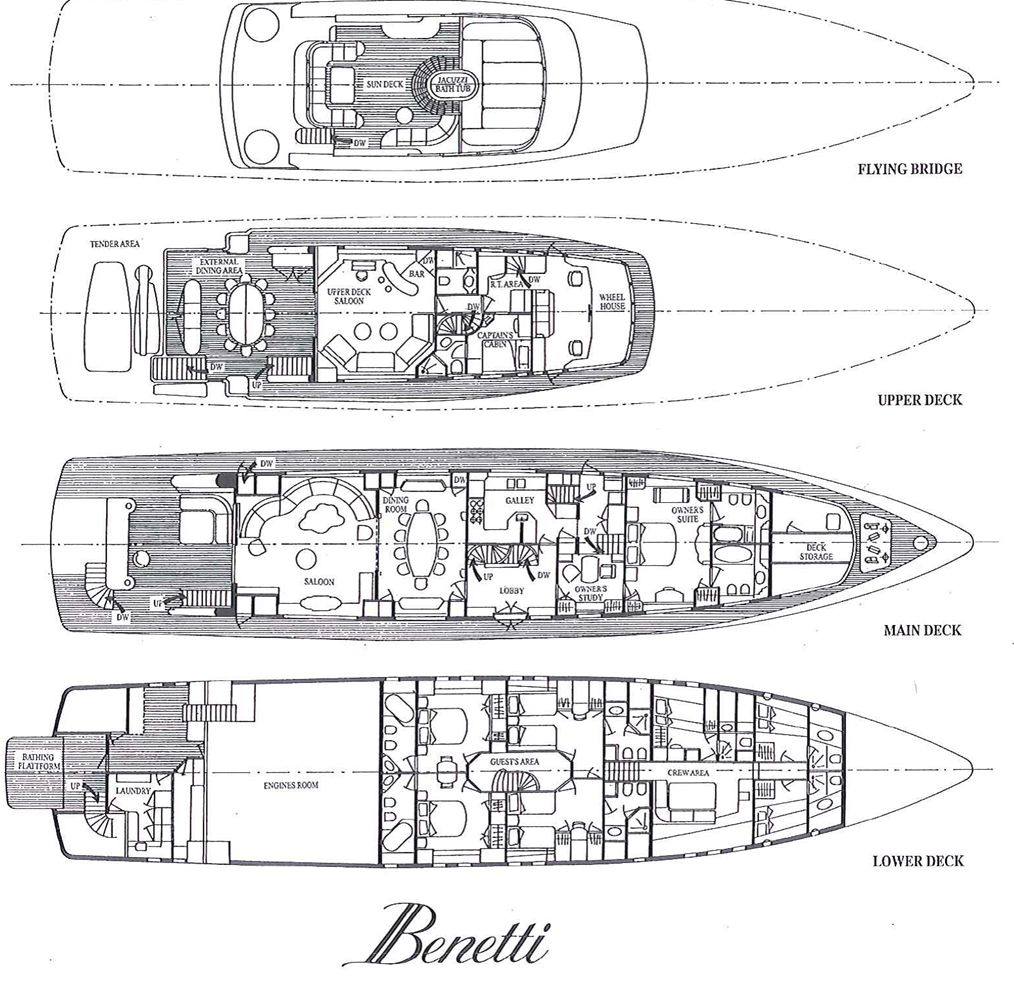 Luxury DESAMIS B Yacht Charter Details, Benetti Yachts ...