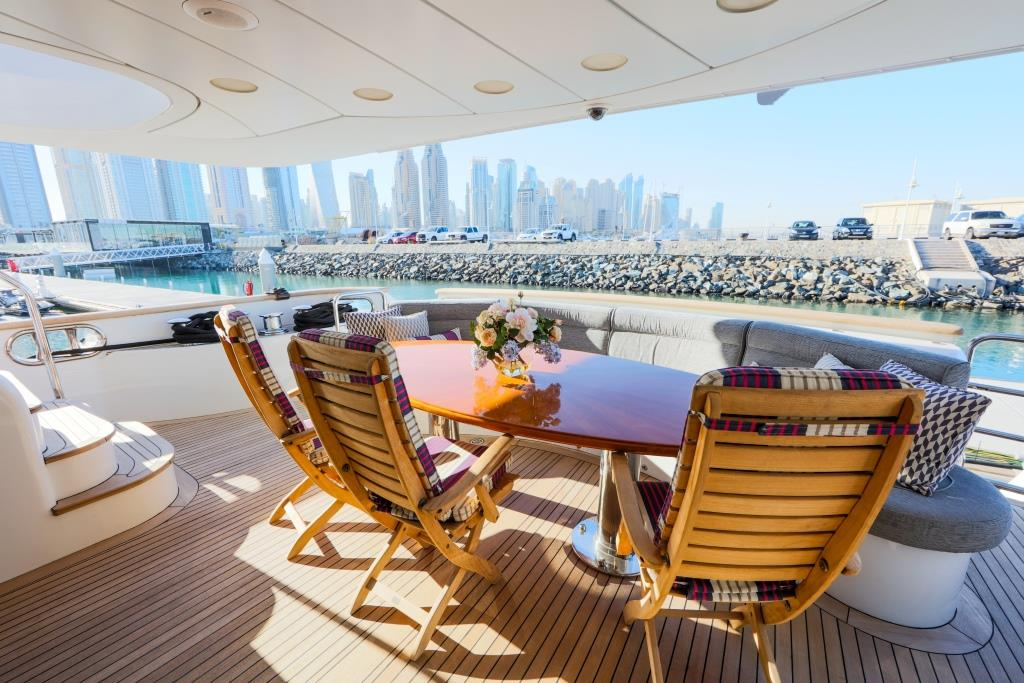 Motor Yacht DXB - Aft deck looking aft