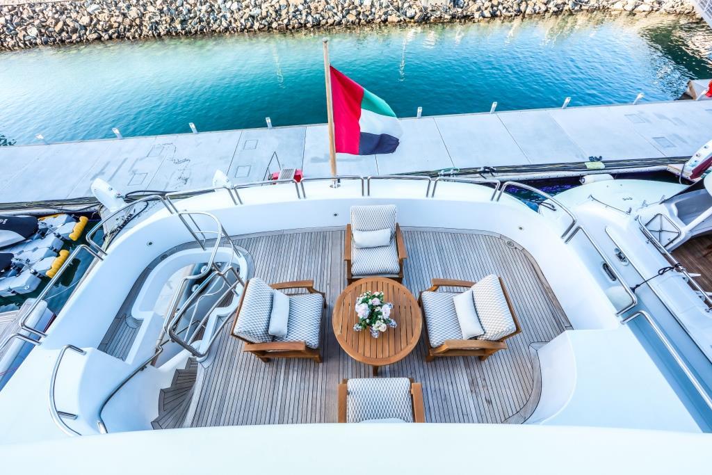 Motor Yacht DXB - Upper deck view