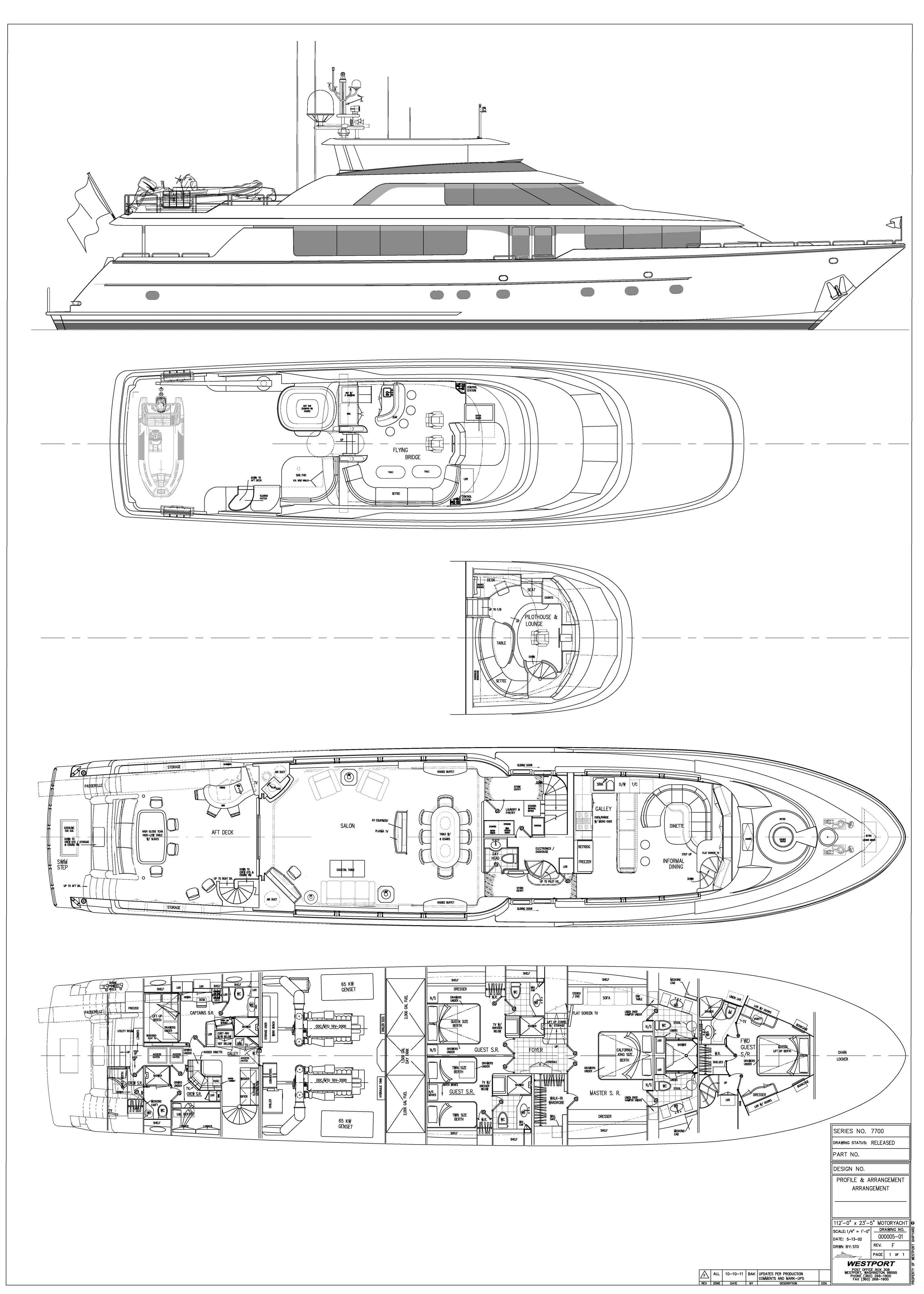 Motor Yacht OASIS - Layout