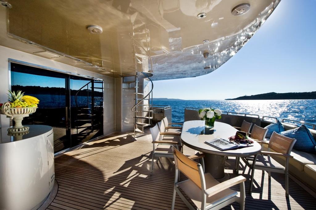 Motor Yacht PANDION - Aft deck
