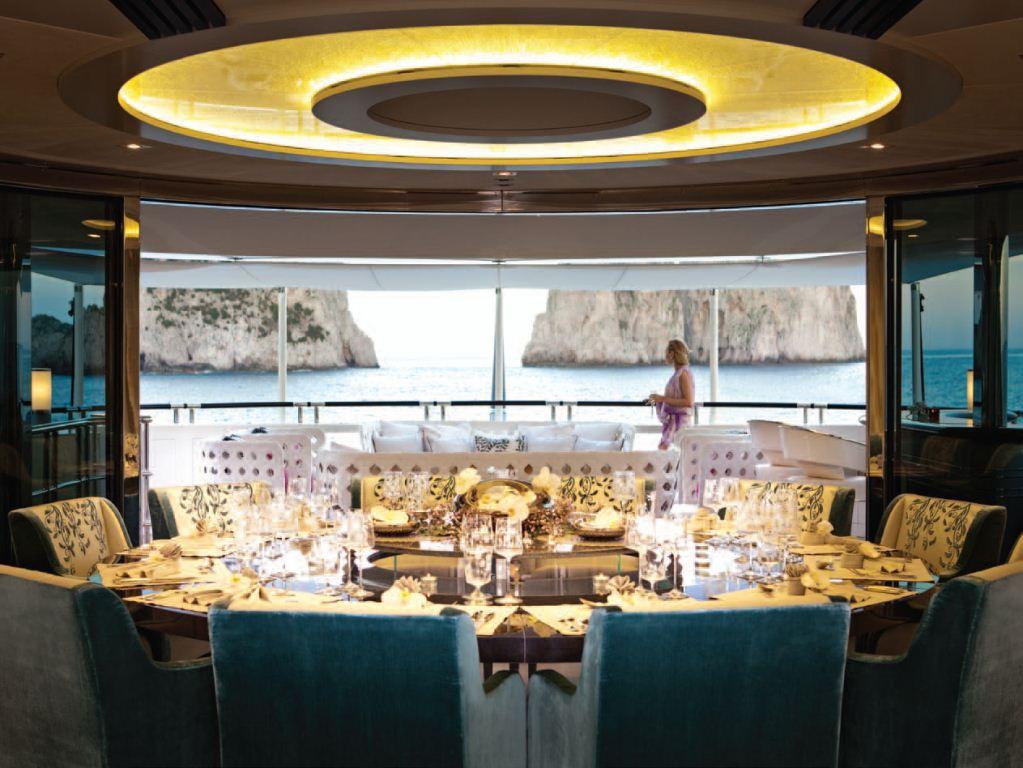 Motor Yacht Quinta Essentia -  Dining Area