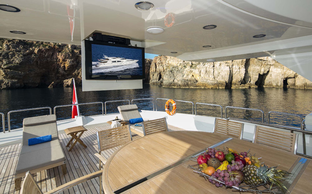 Motor Yacht RINI -  Sundeck entertainment