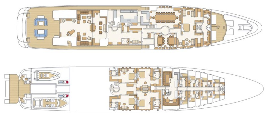 Motor Yacht Reverie - Layout Three