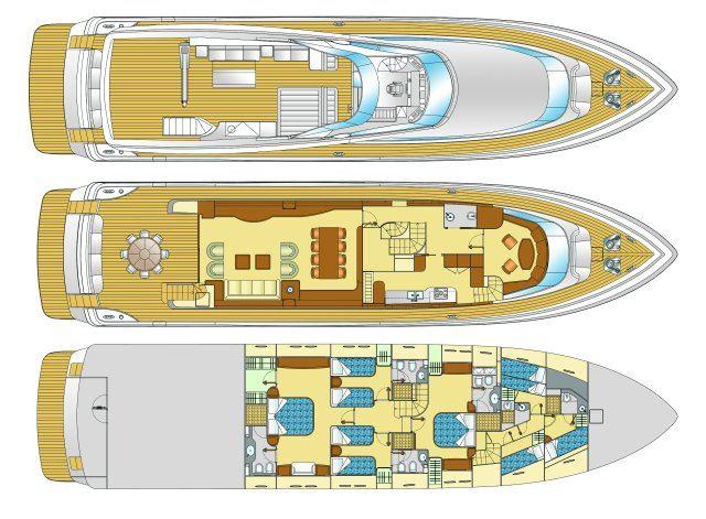 Motor Yacht SELULA -  Layout