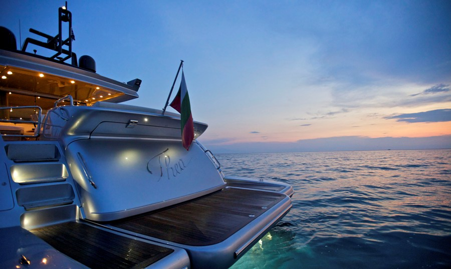 Motor Yacht THEA -  Aft View