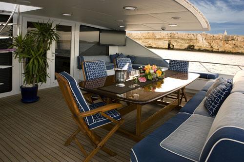 Motor yacht ADO (ex DOA, Java) -  Aft Deck