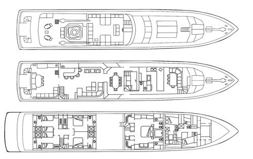 Motor yacht ADO (ex DOA, Java) -  Layout