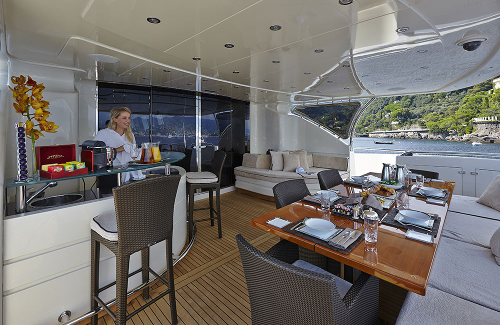 Motor yacht ANTELOPE III - Main deck Aft