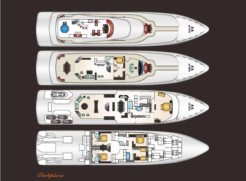 Motor yacht AT LAST - Layout