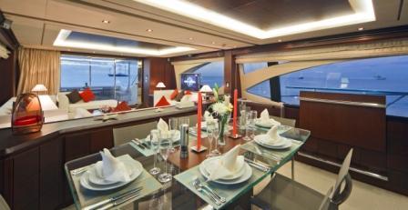 Motor yacht Andreika -  Formal Dining