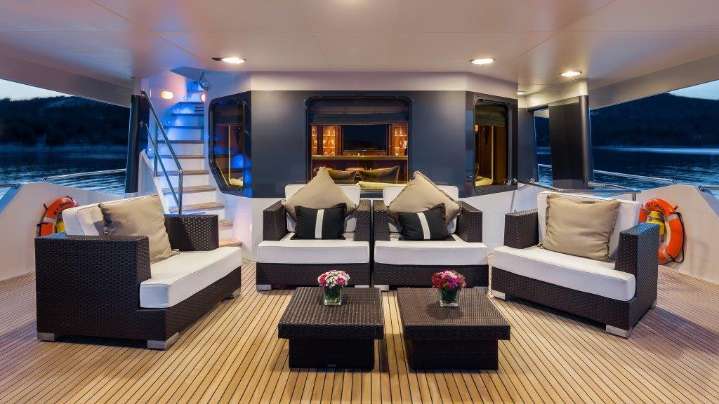Motor yacht BRAZIL - Upper deck looking forward