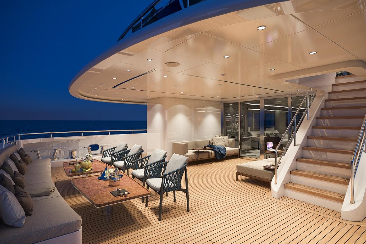 Motor yacht Bilgin 156 - alfresco dining