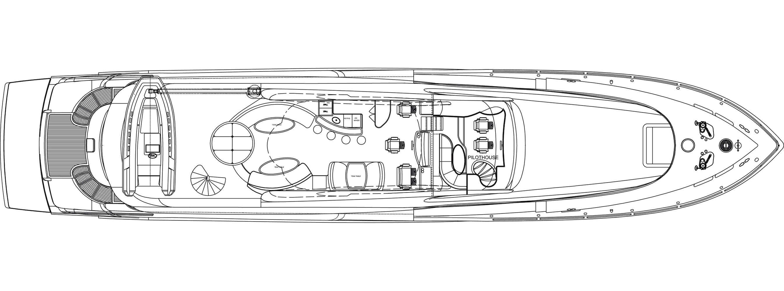 Motor yacht Don Carlo -  Top Deck Layout