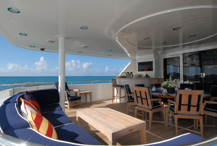 Motor yacht Dona Lola -  Aft Deck View 2