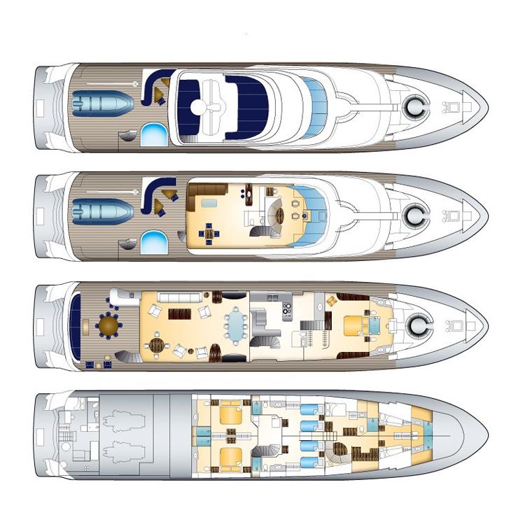 Motor yacht Dona Lola -  Layout