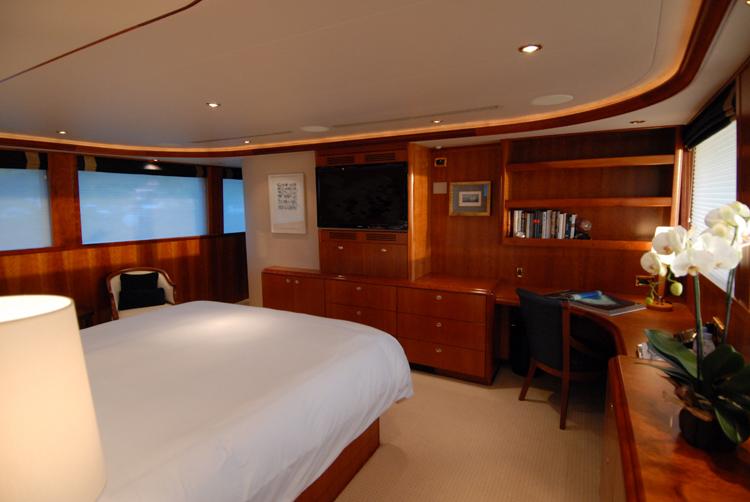 Motor yacht Dona Lola -  Master Cabin View 2