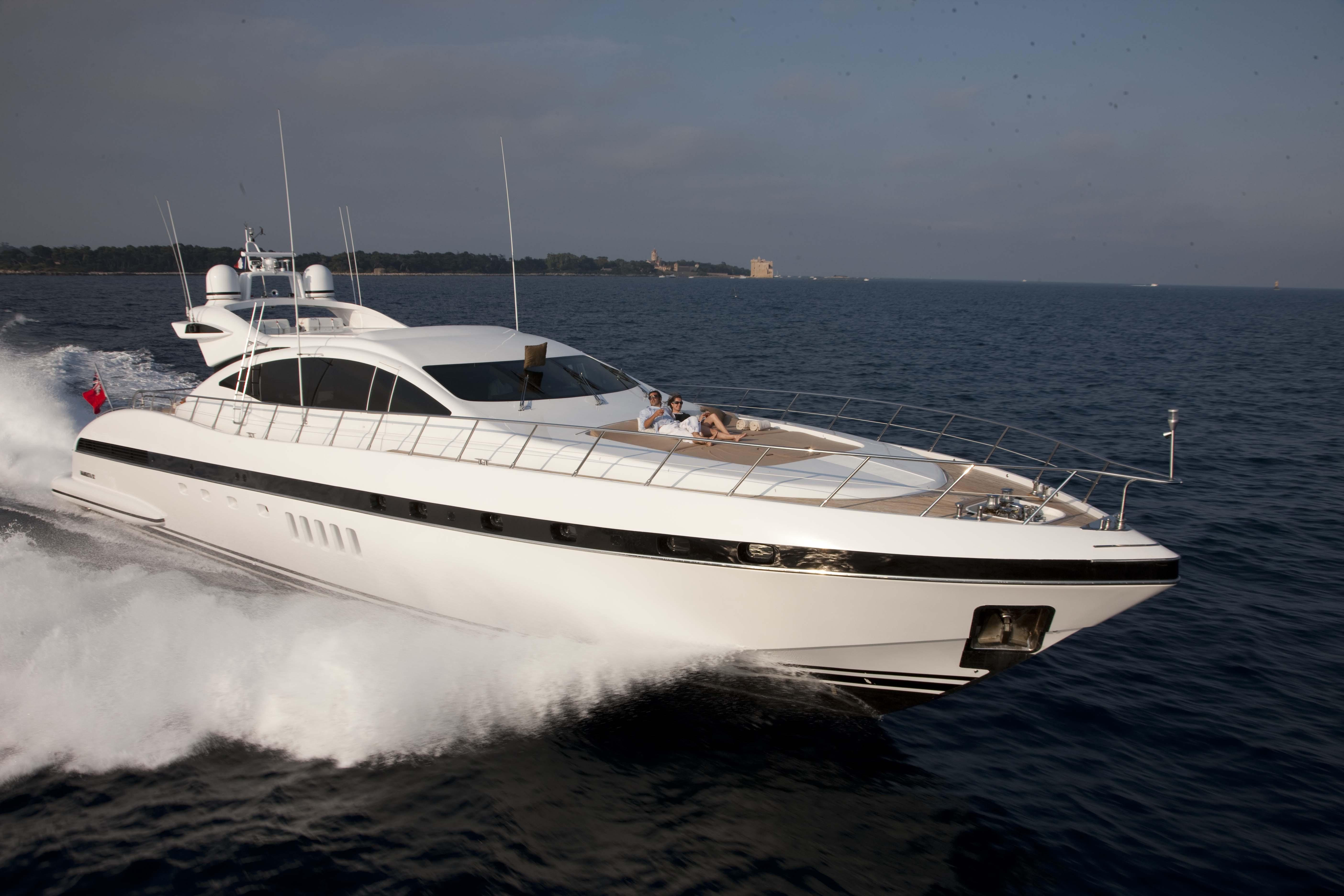 ENZO Yacht Charter Details, Mangusta (Overmarine ...