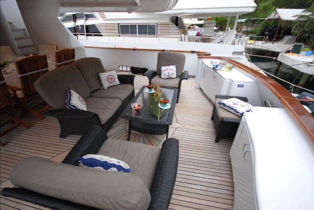 Motor yacht HULYA - Aft Deck