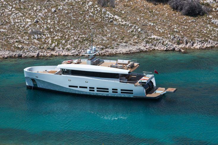 Motor yacht KANGA -  At Anchor