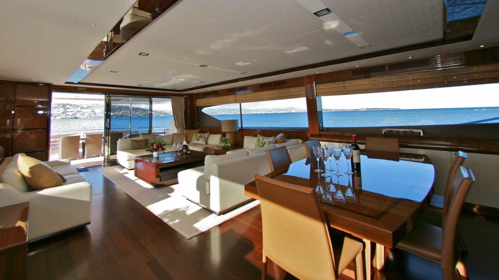 Motor yacht LADY BEATRICE - Main Salon looking Aft