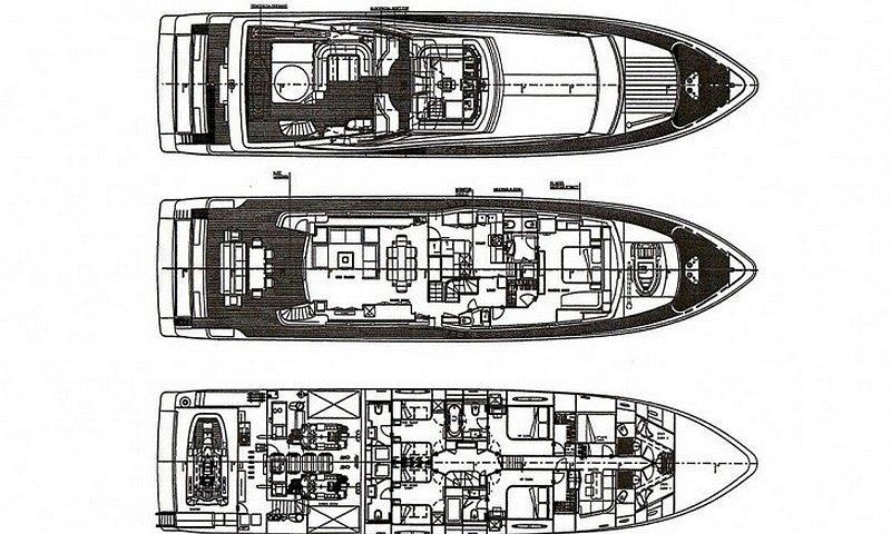 Motor yacht LADY CHATTERLEY -  Layout