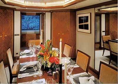 Motor yacht LAZY Z - Formal Dining