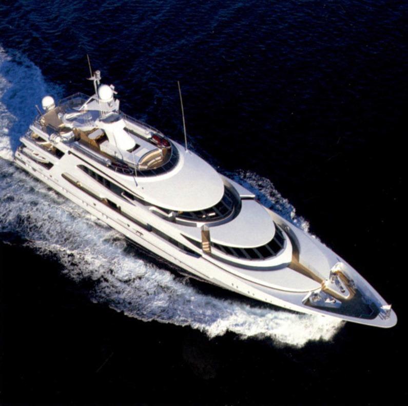 Motor yacht LAZY Z - From Above