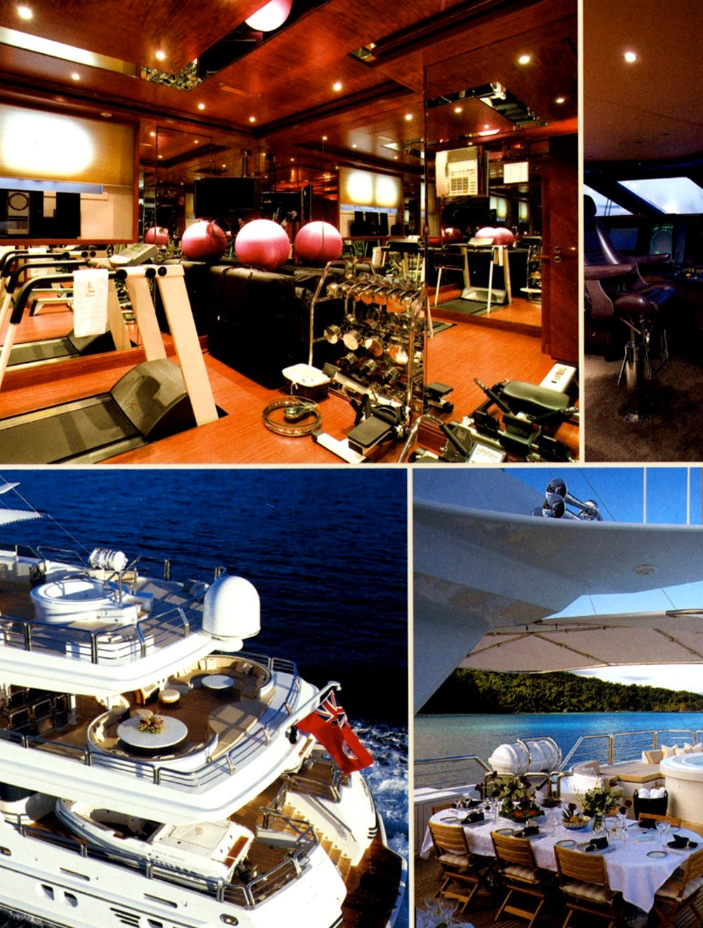 Motor yacht LAZY Z - Gym and Decks