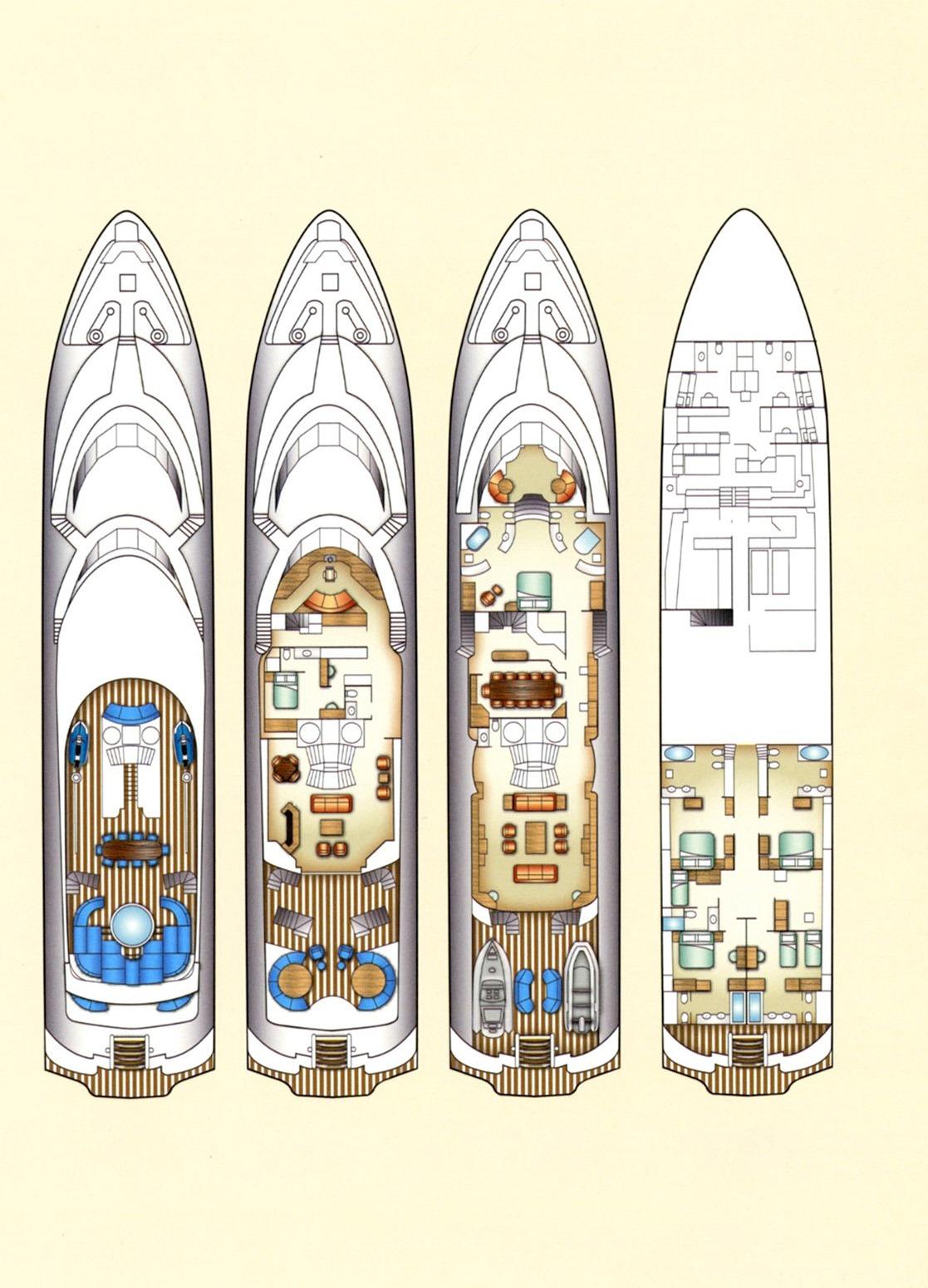 Motor yacht LAZY Z - Layout