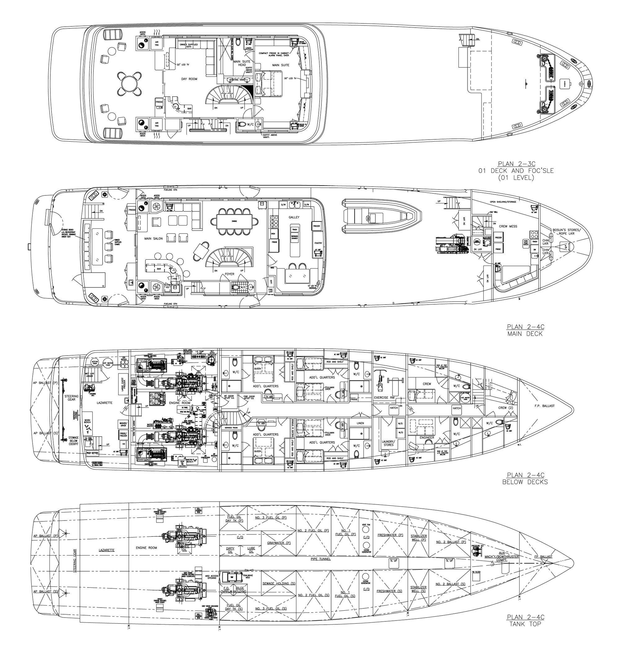 Motor yacht MARCATO - Layout