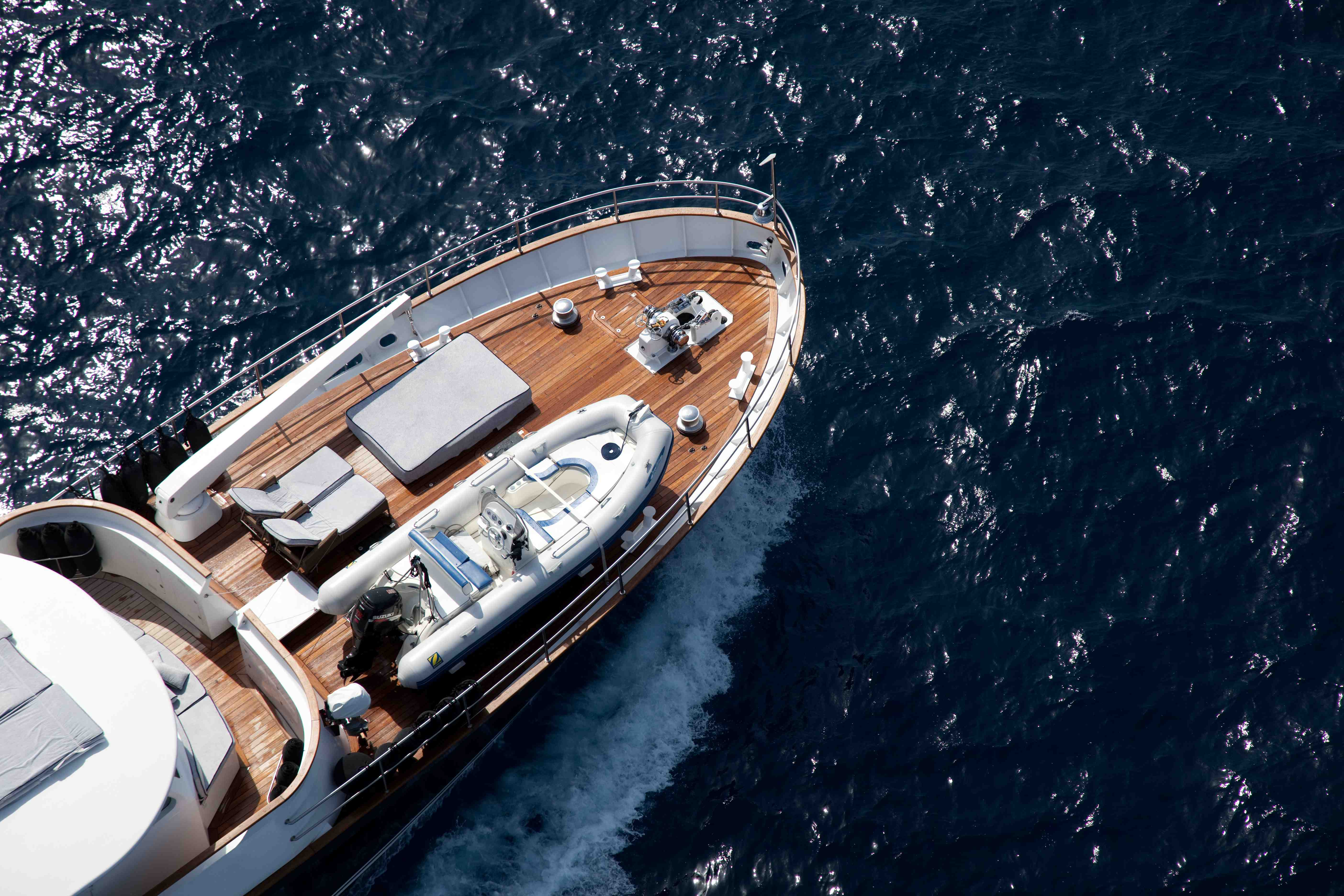 Motor yacht MARHABA - Foredeck from above