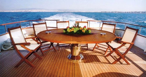 Motor yacht MONACO -  Aft Deck View 2