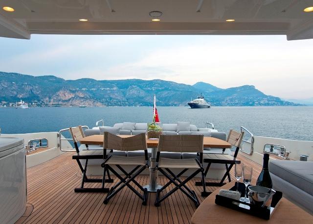 Motor yacht NAMI - Aft Deck