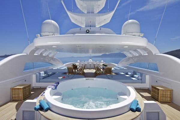 Motor yacht ORAMA -  Sundeck Spa Pool