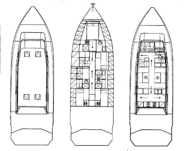 Motor yacht POLYTROFON II -  Layout