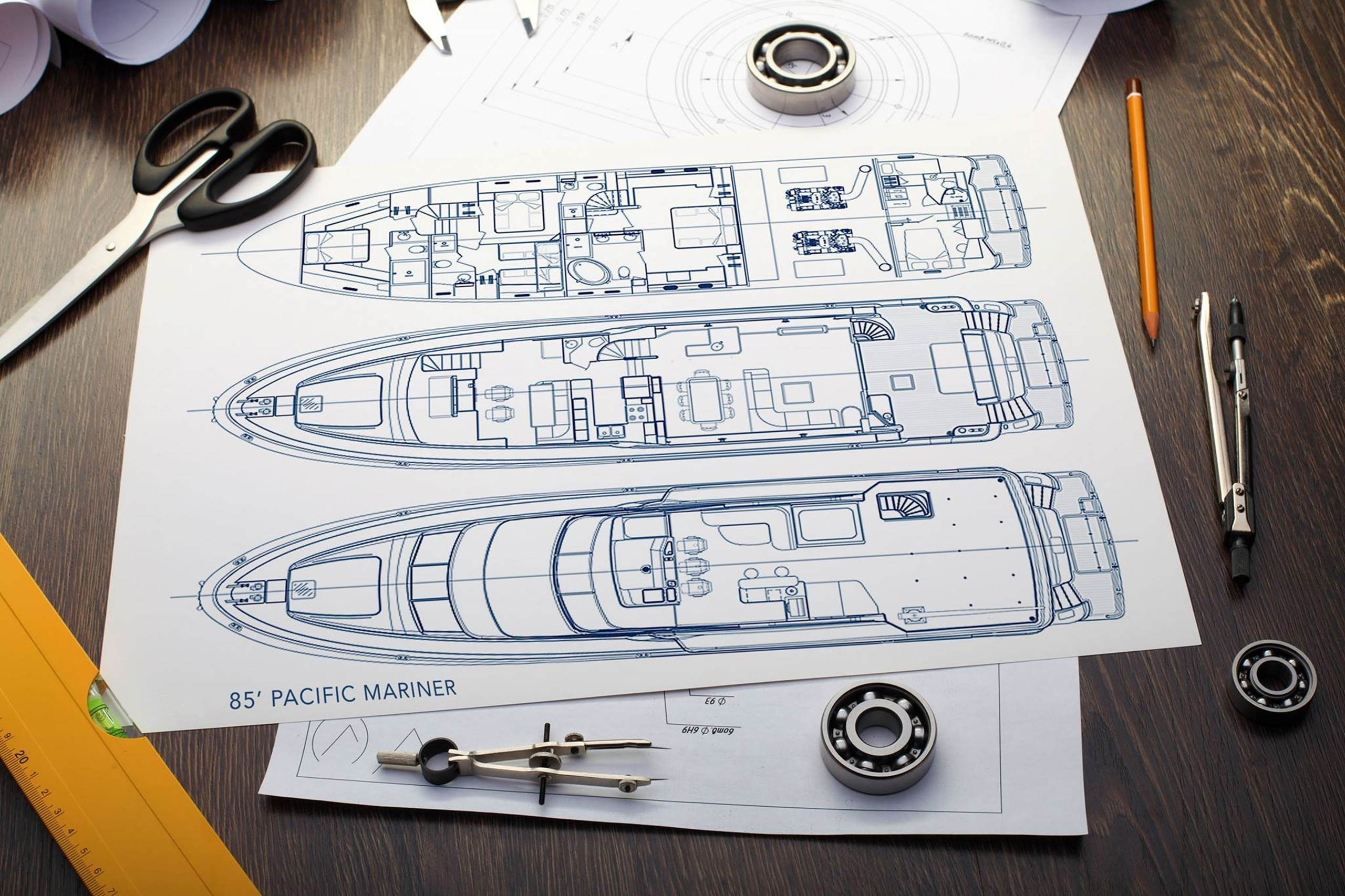 Motor yacht REFLECTIONS - Layout