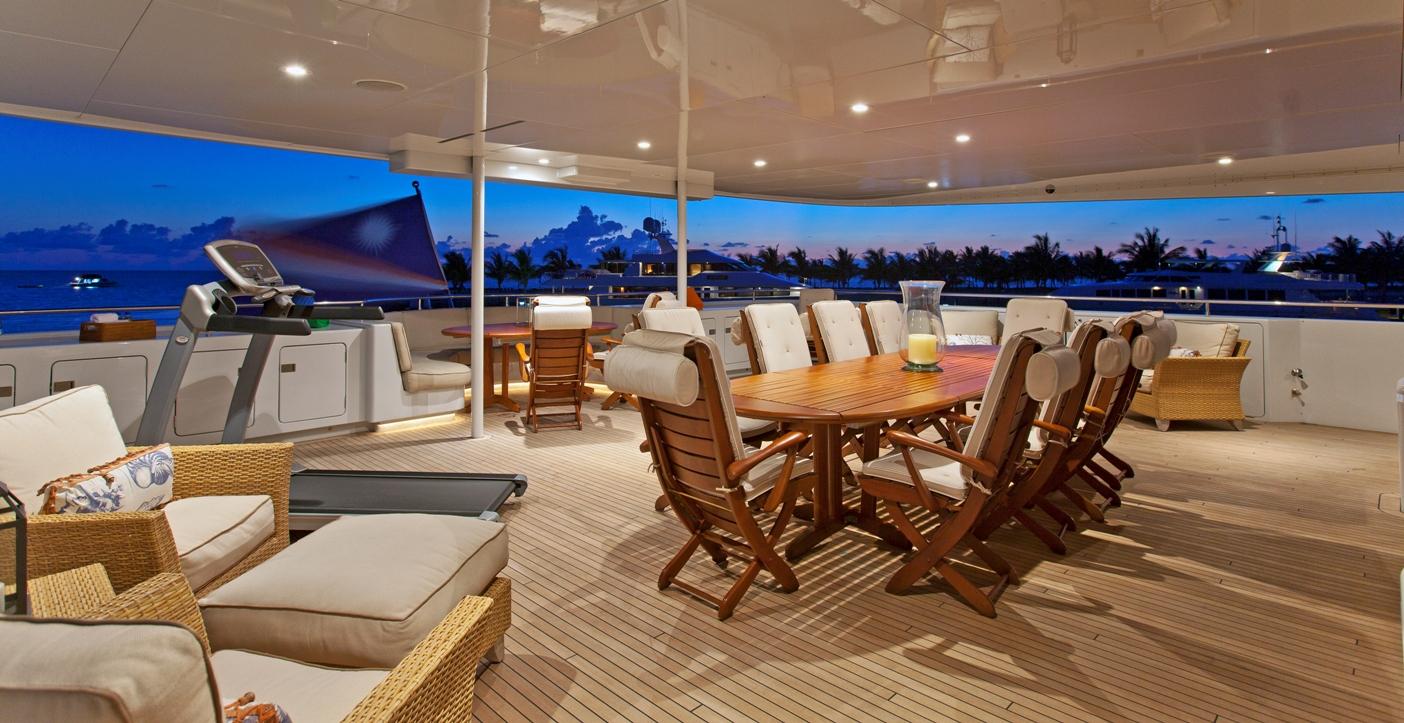 Motor yacht RHINO -  Bridge Deck Al Fresco Dining