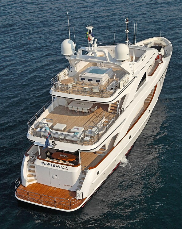 Motor yacht SEA SHELL -  Aft View