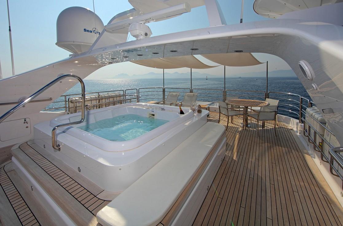 Motor yacht SEA SHELL -  Sun Deck Spa Pool