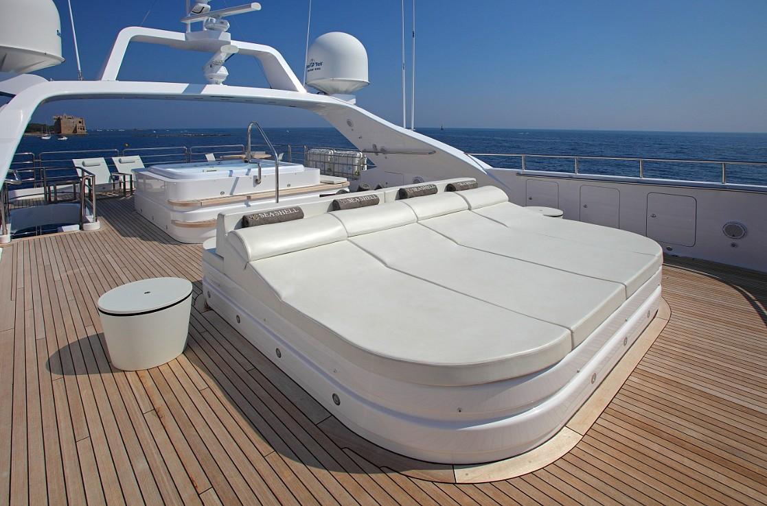 Motor yacht SEA SHELL -  Sun Deck Sunpads