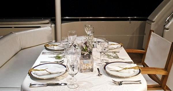 Motor yacht SPLENDIDO -  Aft Deck Dining