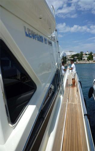 Motor yacht SVEA -  Side Deck